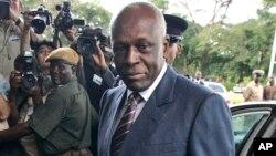 FILE - Angola President Jose Eduardo dos Santos.