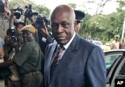 FILE - Angola's long-time President Jose Eduardo dos Santos.