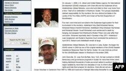 امریکی محکمہ خارجہ کی جانب سے جاری کردہ بیان کا عکس جس میں سوڈانی ملزمان کے ہاتھوں ہلاک ہونے والے امریکی سفارت کار اور ان کے ڈرائیور کی یتصاویر نمایاں ہیں