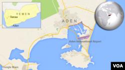 ແຜ່ນທີ່ເມືອງ Aden ຂອງເຢເມນ