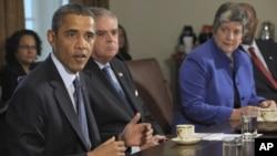奥巴马总统10月3日在白宫的一个内阁会议上