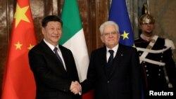 意大利总统22日在罗马会见习近平。