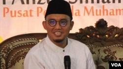 Ketua Pimpinan Pusat Pemuda Muhammadiyah, Dahnil Ahzar Simanjuntak (foto: VOA/Nurhadi).