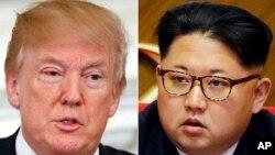 川金會即將舉行圖為美國總統川普(左)與北韓領導人金正恩(右)。