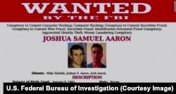 Wanted by the U.S. Federal Bureau of Investigation: Joshua Aaron.