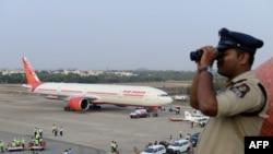 L'aéroport de Begumpet à Hyderabad en Inde, le 15 mars 2016.