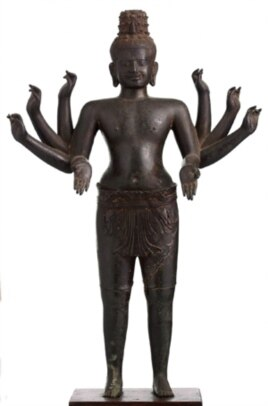 A Cambodian bronze sculpture from the Angkorian period is among the collection of Khmer artifacts on display in Washington, DC and Los Angeles for over one year.