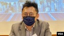 徐家健表示,凍結壹傳媒創辦人黎智英資產,會對投資者心態造成影響。(攝影:美國之音湯惠芸)