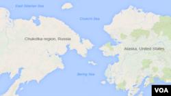 美國與俄羅斯交界的白令海。
