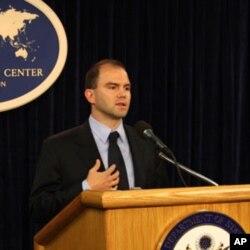 总统国家安全事务副助理兼战略沟通及总统撰稿事务主管本·罗兹(资料照片)