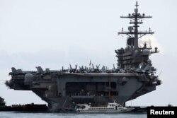 Tàu USS Theodore Roosevelt (CVN-71) ở cảng Tiên Sa, Đà Nẵng, 5/3/2020