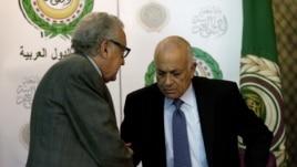Լախդար Բրահիմին Արաբական լիգայի գլխավոր քարտուղարի հետ