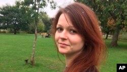Foto de archivo de Yulia Skripal, la hija del exespía ruso Sergei Skripal, que se ha negado a recibir ayuda del consulado ruso en Gran Bretaña.
