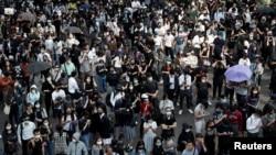 Акція протесту в центрі Гонконгу, 11 листопада 2019 року