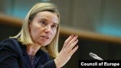 Bà Federica Mogherini, Đại diện cấp cao về Ngoại giao và Chính sách An ninh của EU.