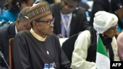 Nigerian President Muhammadu Buhari takes part in the High level meeting during the the TICAD (Tokyo International Conference on African Development) conference in Nairobi, Aug. 28, 2016.