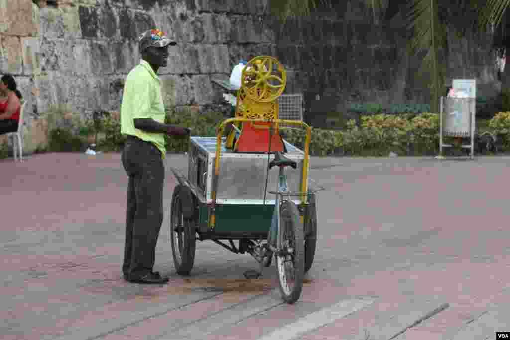 Un raspado de mango o tamarindo en Cartagena.