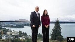 新西蘭總理阿德恩和澳大利亞總理莫里森在昆士蘭舉行澳新首腦會談。(2021年5月31日)