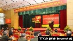 Trong một hội nghị công an tại Hà Nội. Hình minh họa.