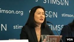 香港中文大學教授林夏如2019年9月25日參加史汀生中心香港問題座談會(美國之音鍾辰芳拍攝)