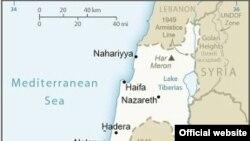 در نقشه وزارت خارجه ایالات متحده اورشلیم به عنوان پایتخت اسرائیل مشخص شده، اما بلندی های جولان همچنان منطقه اشغالی است (تصویر برگرفته از نقشه وزارت خارجه آمریکا در ۲۷ مارس ۲۰۱۹)