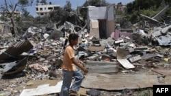 Porušene kuće u izraelskom napadu na Pojas Gaze