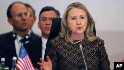 美國國務卿希拉里-克林頓(資料照片)