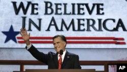 Mitt Romney prometió honrar los ideales democráticos de EE.UU e invocó el legado de los presidentes Harry Truman y Ronald Reagan.
