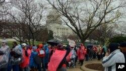 星期二在華盛頓國會大廈前舉行的抗議活動
