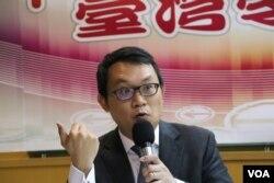 中央警察大學國境警察學系助理教授王智盛(美國之音楊明攝)