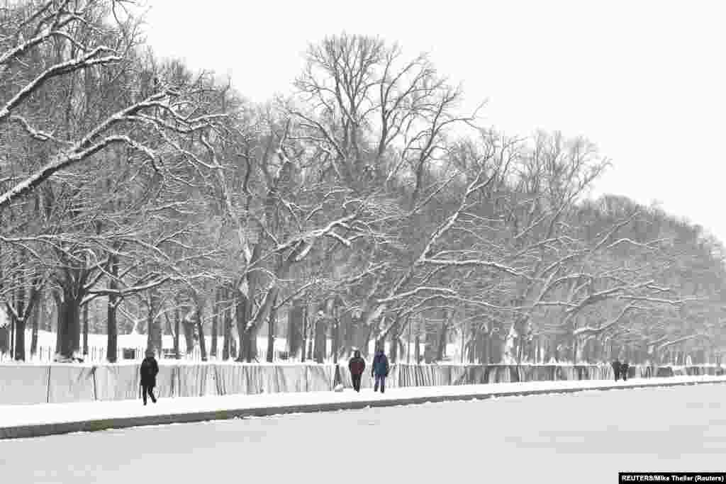 Біля Меморіалу Лінкольна у Вашингтоні, США. 13 січня 2019 року