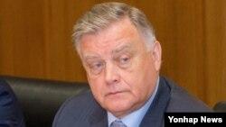 국제철도협력기구(OSJD) 서울 사장단회의 참석차 방한한 블라디미르 야쿠닌 러시아 철도공사 사장이 28일 기자간담회를 열었다.