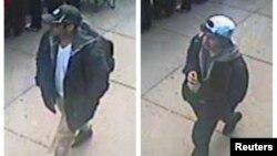Foto 2 orang tersangka pemboman Boston yang dirilis oleh FBI hari Kamis (18/4).