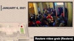 Кадр з відео, представленого стороною обвинувачення в рамках розгляду справи про імпічмент