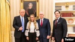 Lilian Tintori, wife of Leopoldo Lopez at the White House.