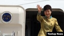 지난 5월 미국 순방 당시 박근혜 한국 대통령. (자료사진)