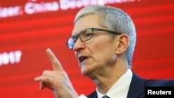 苹果公司首席执行官蒂姆·库克(Tim Cook)在北京参加中国发展论坛(2017年3月18日)