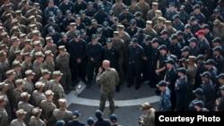 2016年10月29 日,美軍藍色鉻鐵石聯合軍演由一名少將統一指揮。(美國海軍陸戰隊照片)