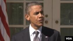 美國總統奧巴馬(美國之音視頻截圖)
