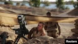 Des soldats français prenant position dans le nord du Mali, 19 janvier 2013
