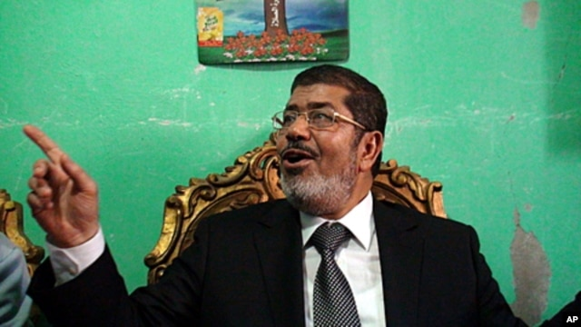 Egyptian presidential candidate Mohamed Morsi, of the Muslim Brotherhood, at his home in the Delta Village, Edwa, April 23, 2012