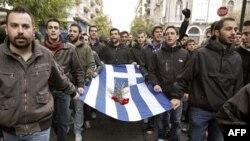 Sinh viên mở cuộc tuần hành trong thủ đô Athens đánh dấu kỷ niệm ngày sinh viên nổi dậy chống chế độ độc tài, năm 1973