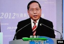 何俊仁質疑,今年3月中的特首選舉電視論壇,兩位建制派候選人都可能公開說謊
