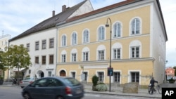 FILE - This is an exterior view of Adolf Hitler's birth house in Braunau am Inn, Austria. It will be turned into a base for a charity.