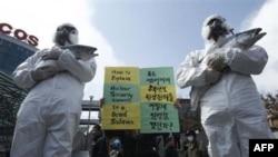 Протесты в Сеуле
