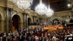 Celebração popular a favor da independência da Catalunha