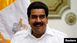 President Nicolas Maduro at Miraflores Palace in Caracas, June 14, 2013.