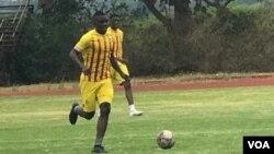 Marvellous Nakamba training for the Warriors on Thursday.
