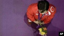 런던 하계올림픽 첫 메달을 따낸 북한의 량춘화 선수