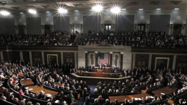President Barack Obama delivers his State of the Union address on Capitol Hill  in Washington, January 24, 2012.